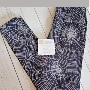 LuLaRoe OS Halloween Leggings Spiderwebs #103110